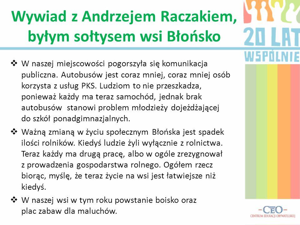 Na terenie Błońska w ostatnich dwudziestu latach został położony asfalt.