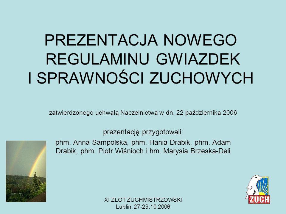 XI ZLOT ZUCHMISTRZOWSKI Lublin, 27-29.10.2006 Wychowanie w gromadzie zuchowej ZHR to formacja w kierunku dobra, piękna i prawdy w oparciu o wartości chrześcijańskie.