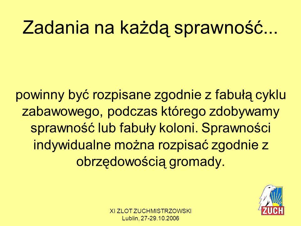XI ZLOT ZUCHMISTRZOWSKI Lublin, 27-29.10.2006 KOLORY, CZYLI SEDNO SPRAWY