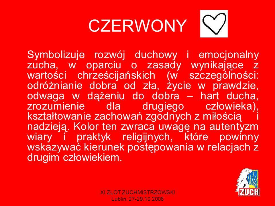 XI ZLOT ZUCHMISTRZOWSKI Lublin, 27-29.10.2006 TO OZNACZA, ŻE rozwijamy dzieci pod względem duchowym, ale nie zapominamy o rozwoju emocjonalnym.