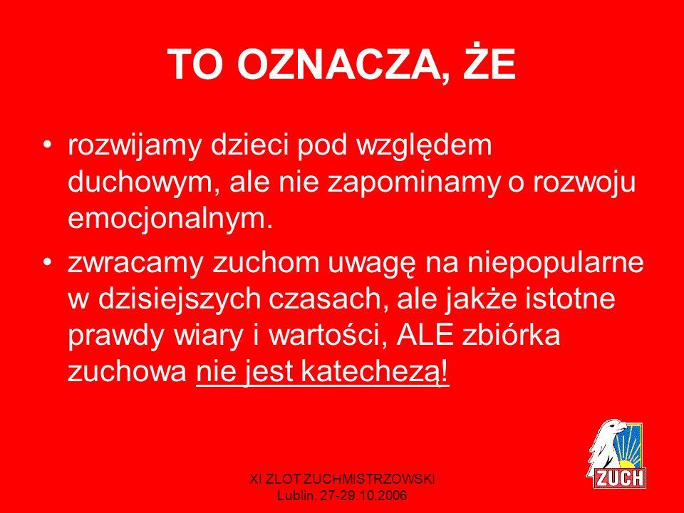 XI ZLOT ZUCHMISTRZOWSKI Lublin, 27-29.10.2006 Gwiazdki * chcę postępować ** staram się czynić *** świadomie uczestniczę 3.