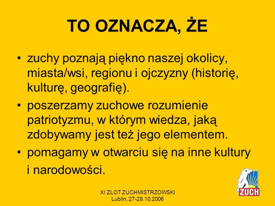 XI ZLOT ZUCHMISTRZOWSKI Lublin, 27-29.10.2006 Gwiazdki * 1.