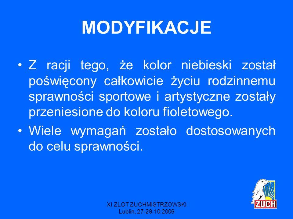 XI ZLOT ZUCHMISTRZOWSKI Lublin, 27-29.10.2006 NOWOŚCI Wnuczek/Wnuczka - starsi ludzie są ważni i można się od nich wielu rzeczy nauczyć.
