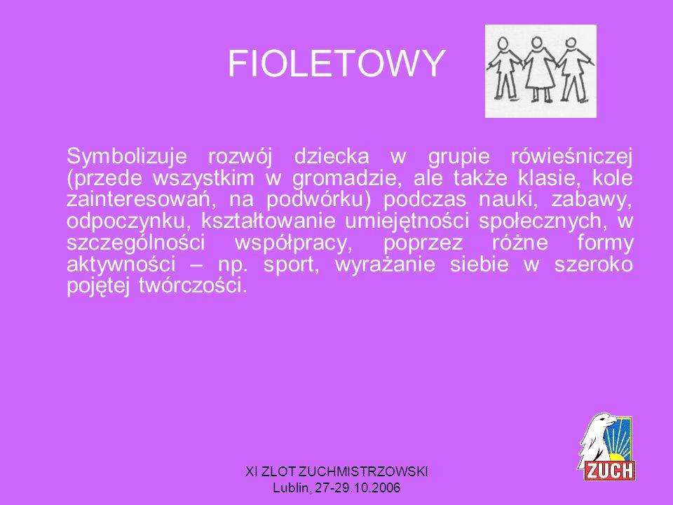 XI ZLOT ZUCHMISTRZOWSKI Lublin, 27-29.10.2006 TO OZNACZA, ŻE realizacja zadań może odbywać się w innych grupach rówieśniczych, nie tylko w gromadzie, trzeba zauważyć to, że dzieci mają mnóstwo zajęć poza lekcyjnych i nie można pozostać na to obojętnym.