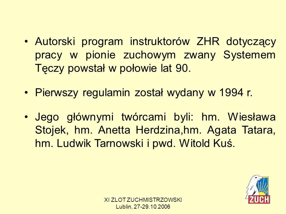 XI ZLOT ZUCHMISTRZOWSKI Lublin, 27-29.10.2006 Dlaczego zdecydowaliśmy się na zmiany.