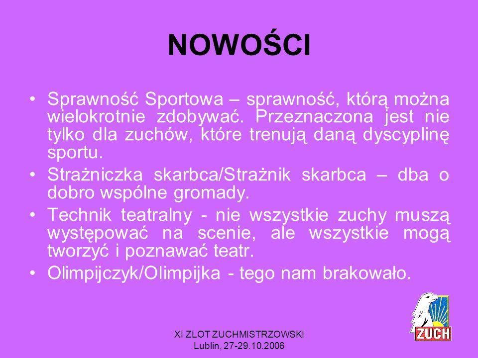 XI ZLOT ZUCHMISTRZOWSKI Lublin, 27-29.10.2006 W REGULAMINIE ZNAJDZIECIE RÓWNIEŻ wstęp, który należy uważnie przeczytać.