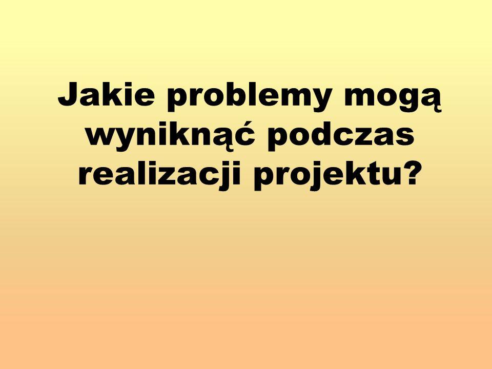 Jakie problemy mogą wyniknąć podczas realizacji projektu?