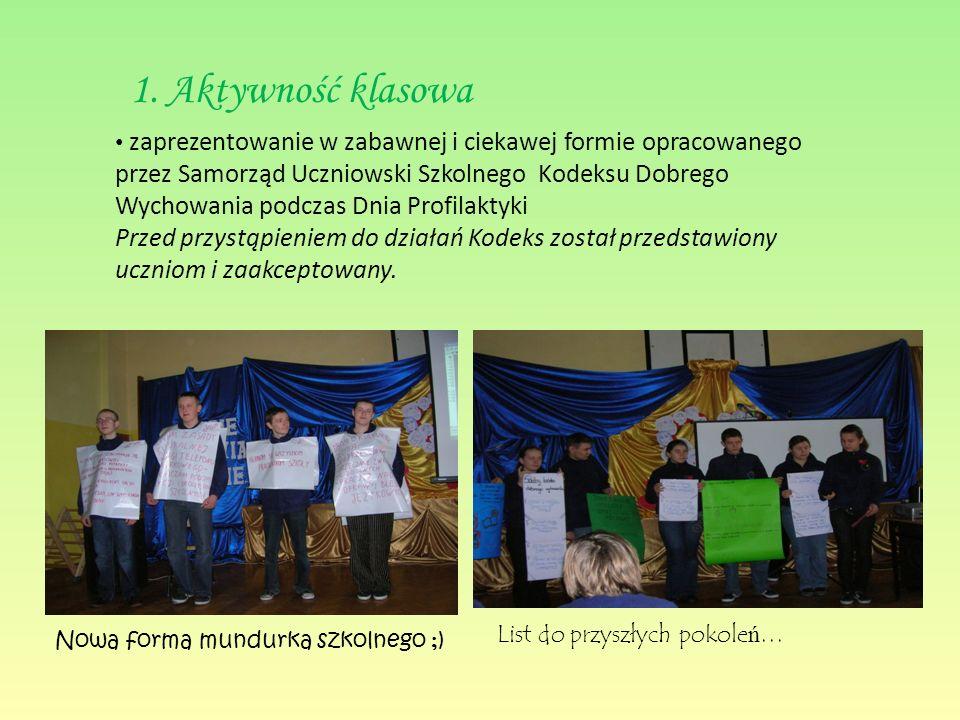 Opis działań III edycja akcji rok szkolny 2009/10