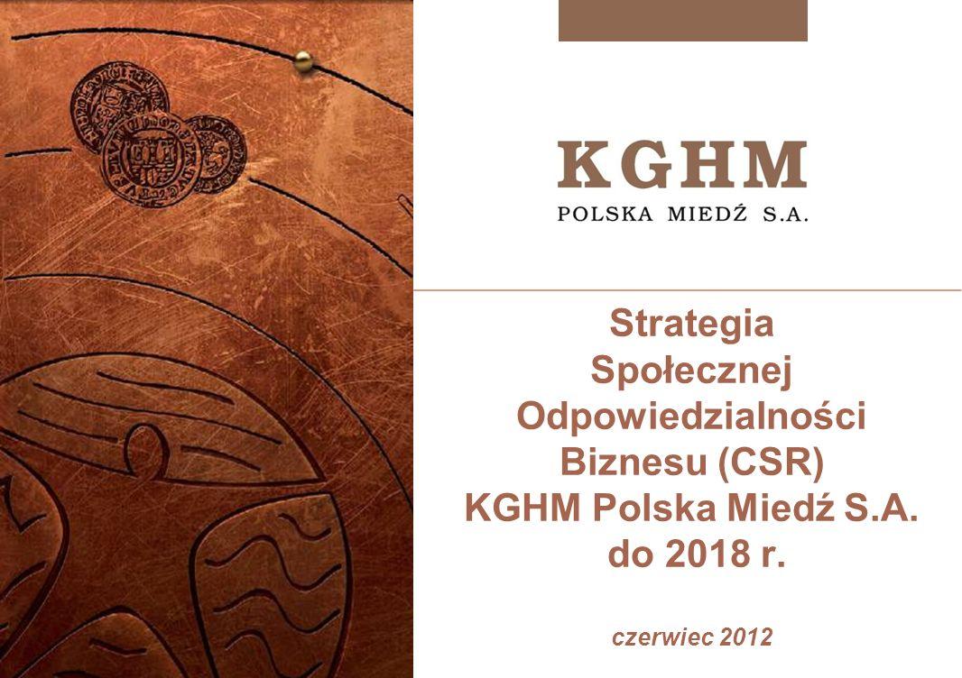 Strategia Społecznej Odpowiedzialności Biznesu (CSR) KGHM Polska Miedź S.A.
