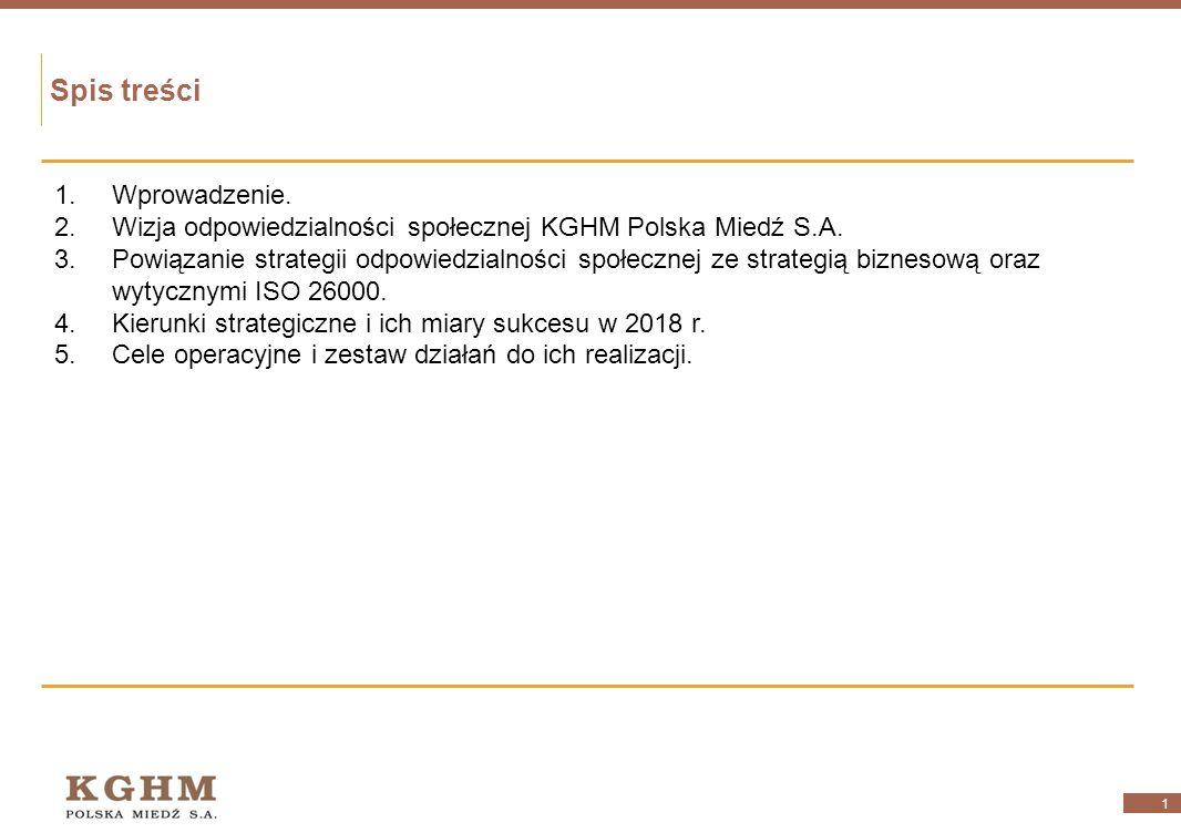 Strategia Społecznej Odpowiedzialności Biznesu (CSR) KGHM Polska Miedź S.A. do 2018 r. czerwiec 2012