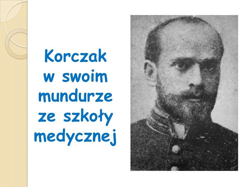 Korczak w swoim mundurze ze szkoły medycznej