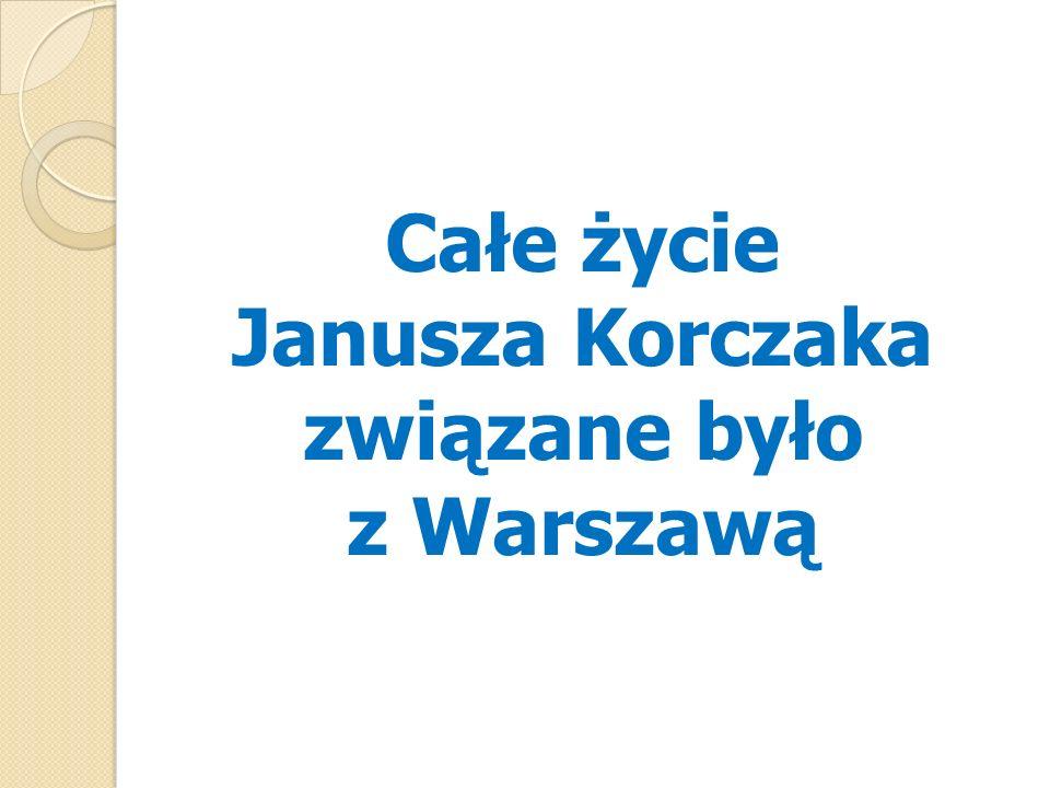 Janusz Korczak z dziećmi i wychowawcami przed Domem Sierot