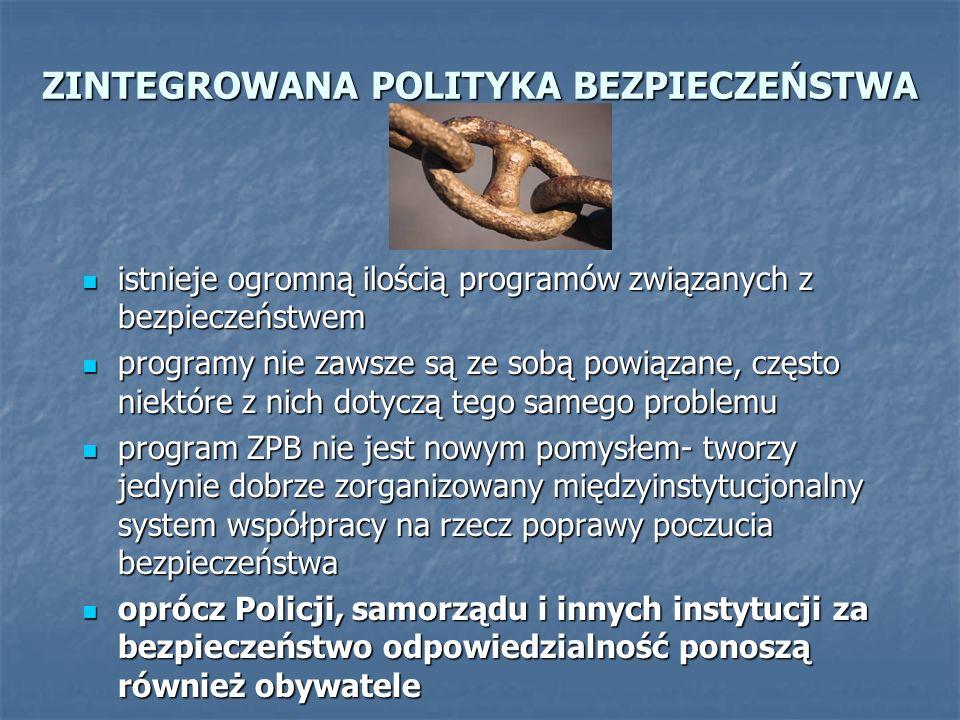 ZINTEGROWANA POLITYKA BEZPIECZEŃSTWA istnieje ogromną ilością programów związanych z bezpieczeństwem istnieje ogromną ilością programów związanych z b