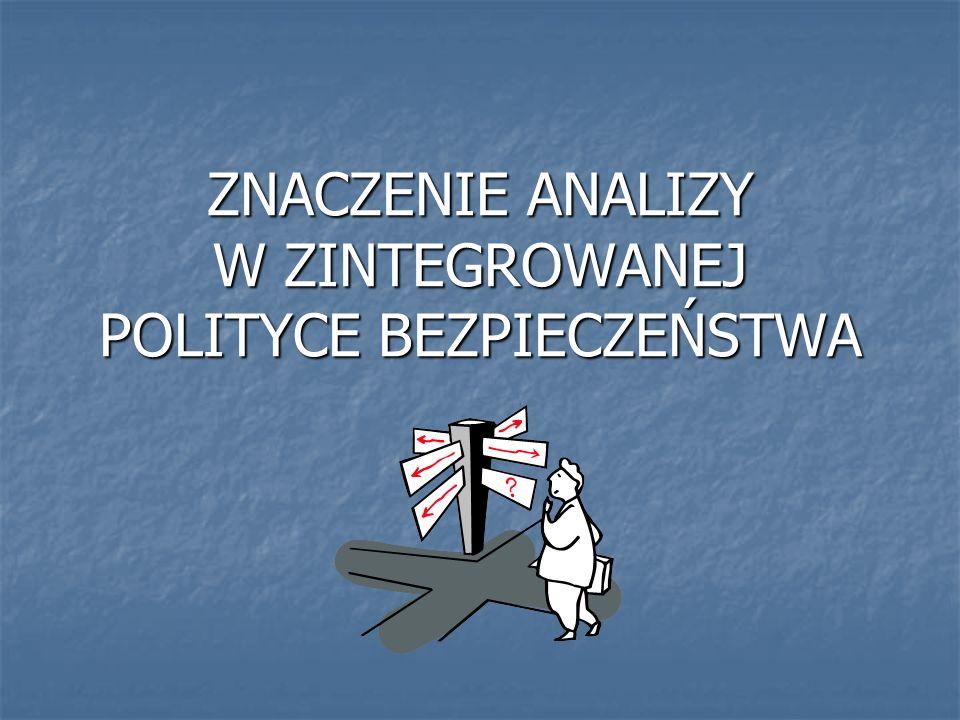 ZNACZENIE ANALIZY W ZINTEGROWANEJ POLITYCE BEZPIECZEŃSTWA