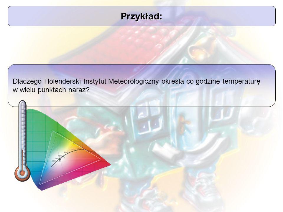 Przykład: Dlaczego Holenderski Instytut Meteorologiczny określa co godzinę temperaturę w wielu punktach naraz?