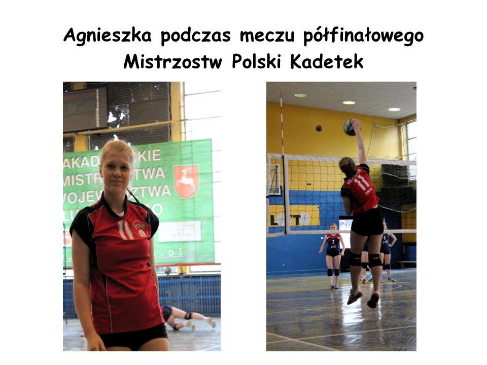 Agnieszka podczas meczu półfinałowego Mistrzostw Polski Kadetek