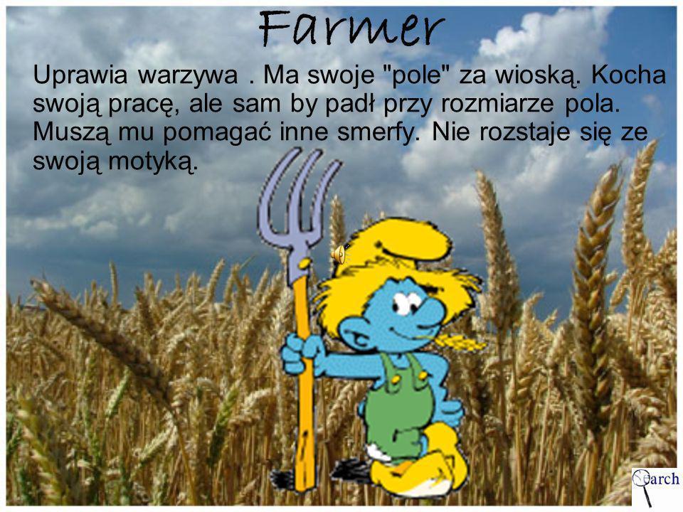 Farmer Uprawia warzywa. Ma swoje