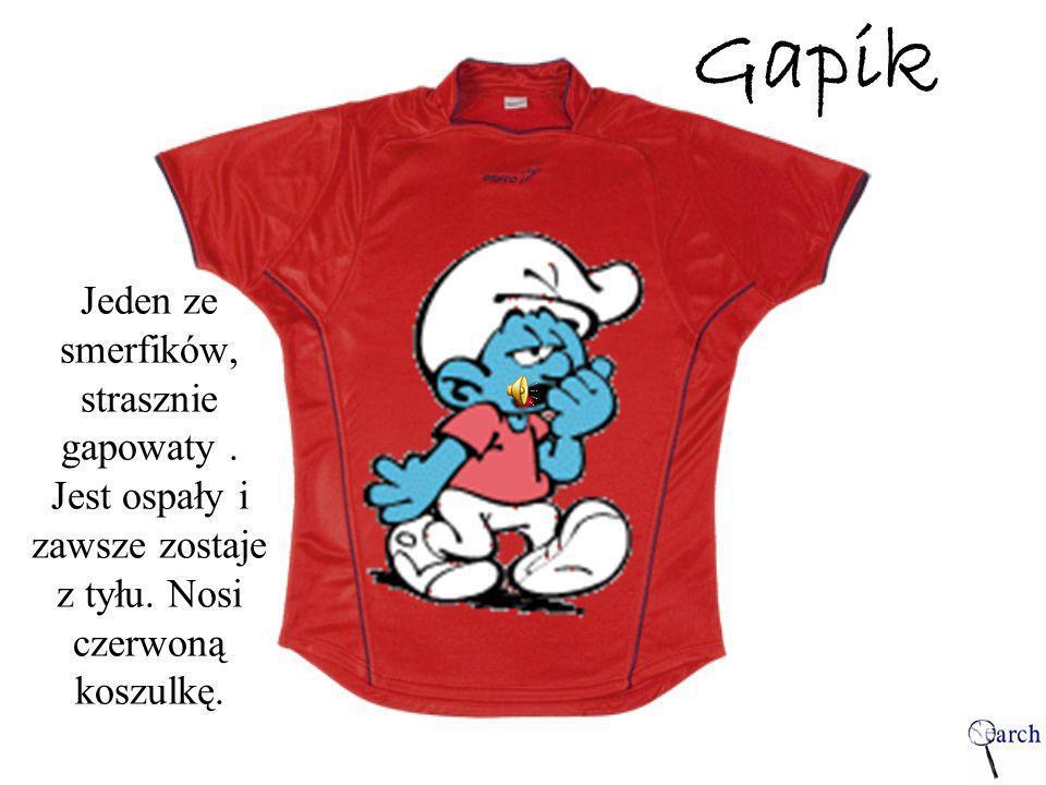 Gapik Jeden ze smerfików, strasznie gapowaty. Jest ospały i zawsze zostaje z tyłu. Nosi czerwoną koszulkę.