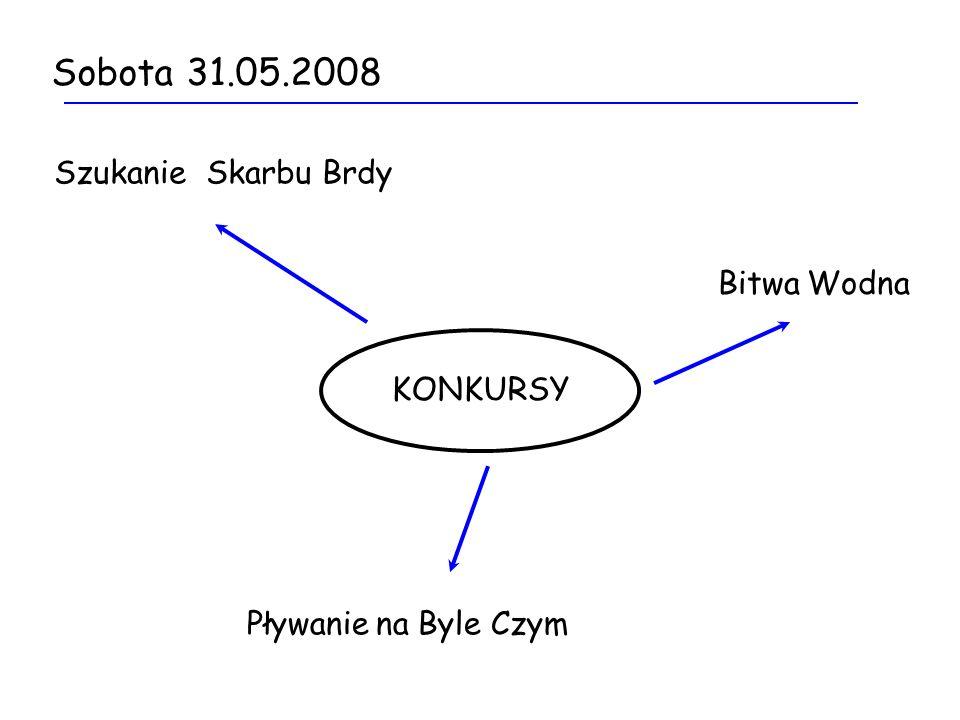 Sobota 31.05.2008 Szukanie Skarbu Brdy KONKURSY Bitwa Wodna Pływanie na Byle Czym