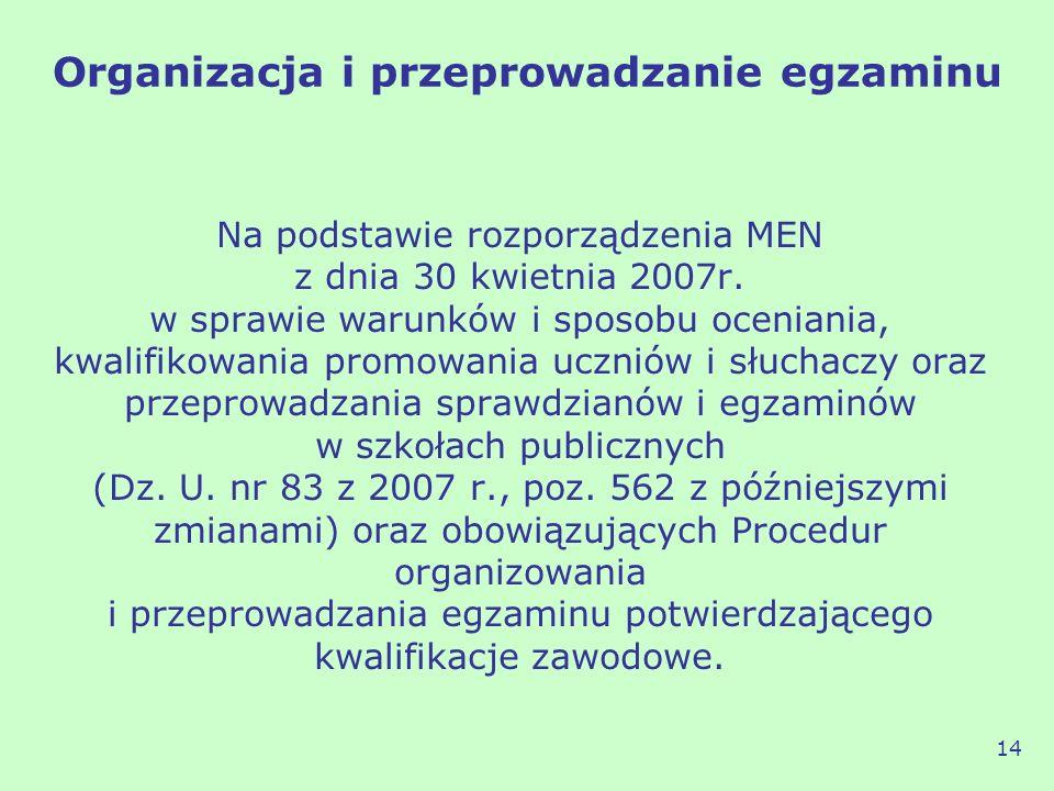 Na podstawie rozporządzenia MEN z dnia 30 kwietnia 2007r. w sprawie warunków i sposobu oceniania, kwalifikowania promowania uczniów i słuchaczy oraz p