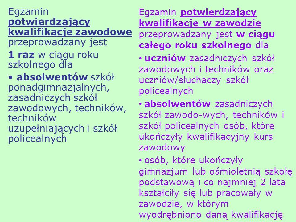 Podczas egzaminu: zapewnia sprawność sprzętu, reaguje na awarie zgłoszone przez PZNEP, jest obecny w sali egzaminacyjnej lub w bezpośrednio przyległym, otwartym zapleczu (egzamin na stanowiskach komputerowych) nie przemieszcza się po sali, na prośbę PZNEP drukuje (w zawodach: technik informatyk, technik mechatronik, technik prac biurowych) na prośbę PZNEP (egzamin na stanowiskach komputerowych) usuwa efekty pracy zdającego każdorazowo po wykorzystaniu nośnika (w zawodach: technik pojazdów samochodowych, fototechnik, technik informatyk, technik mechatronik, technik prac biurowych).
