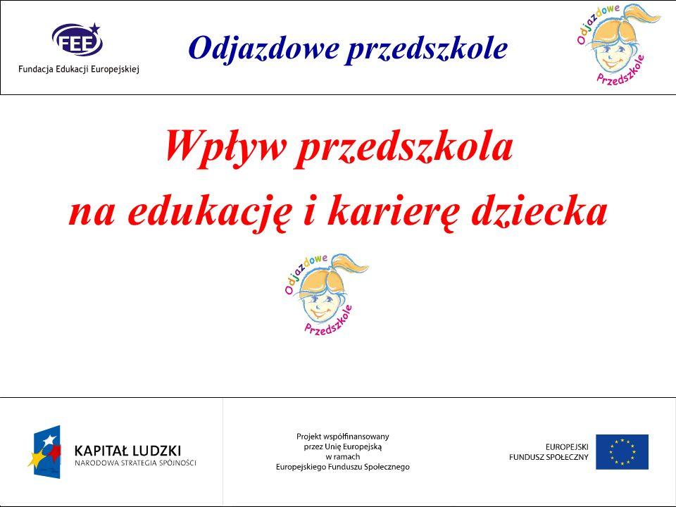 Rok przedszkolaka Wpływ przedszkola na edukację i karierę dziecka Odjazdowe przedszkole
