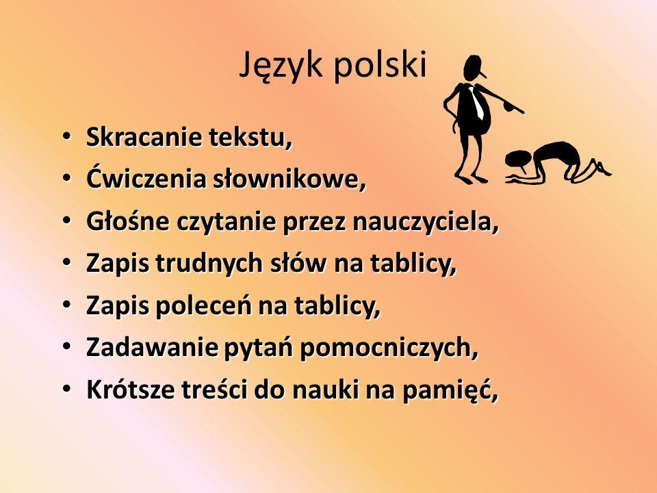 Język polski Oceniać umiejętności odnajdywania informacji w tekście, Ocenianie postępów, a nie stanu faktycznego, Czytanie fragmentów lektury (lub CD)
