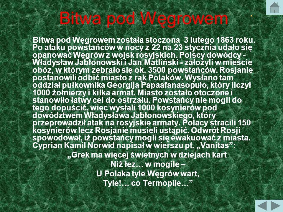 Bitwa pod Węgrowem Polskie Termopile 22/23 sierpnia 1863 r.