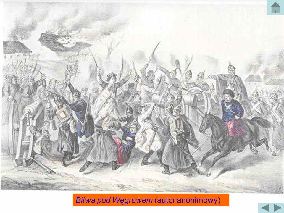 Bitwa pod Węgrowem Bitwa pod Węgrowem została stoczona 3 lutego 1863 roku. Po ataku powstańców w nocy z 22 na 23 stycznia udało się opanować Węgrów z