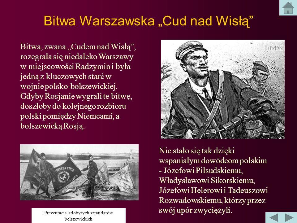 Bitwa Warszawska Cud nad Wisłą 1920 r.