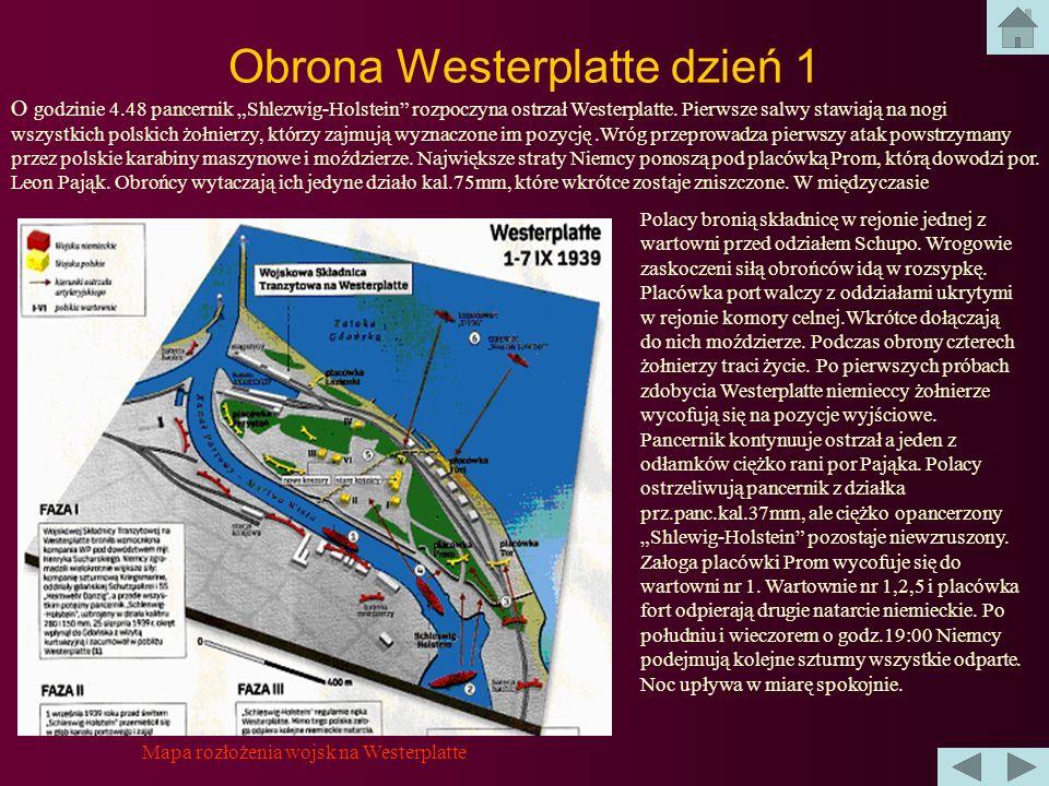 Obrona Westerplatte Po kolejnej salwie z pancernika niemieccy żołnierze z oddziału SS Heimwehr Danzig i kompani szturmowej z Schleswiga-Holsteina rusz