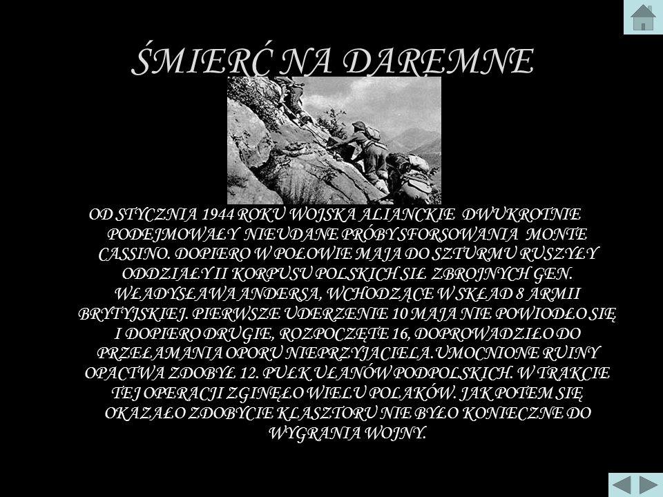 MONTE CASSINO 1944 ROK