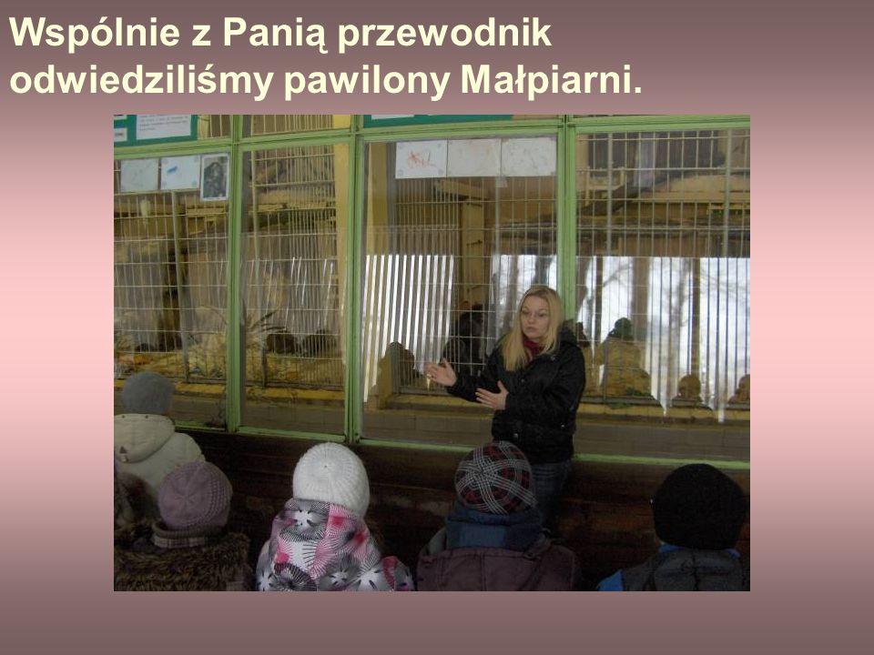 Wspólnie z Panią przewodnik odwiedziliśmy pawilony Małpiarni.