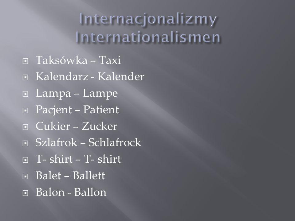 Taksówka – Taxi Kalendarz - Kalender Lampa – Lampe Pacjent – Patient Cukier – Zucker Szlafrok – Schlafrock T- shirt – T- shirt Balet – Ballett Balon -