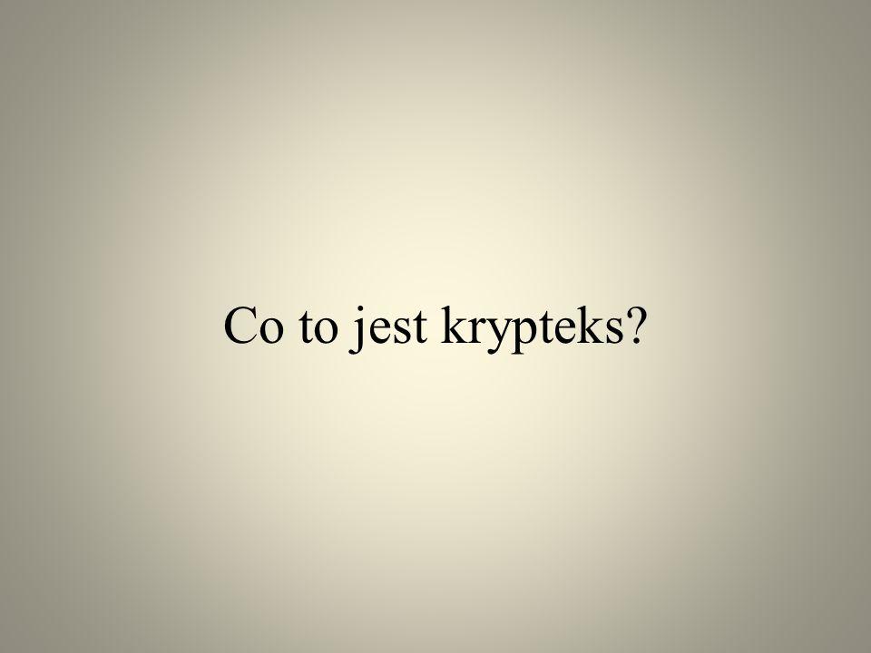 Co to jest krypteks?