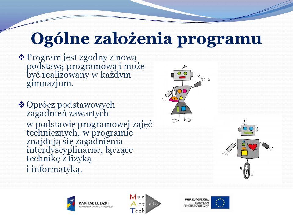 Ogólne założenia programu Program jest zgodny z nową podstawą programową i może być realizowany w każdym gimnazjum. Oprócz podstawowych zagadnień zawa