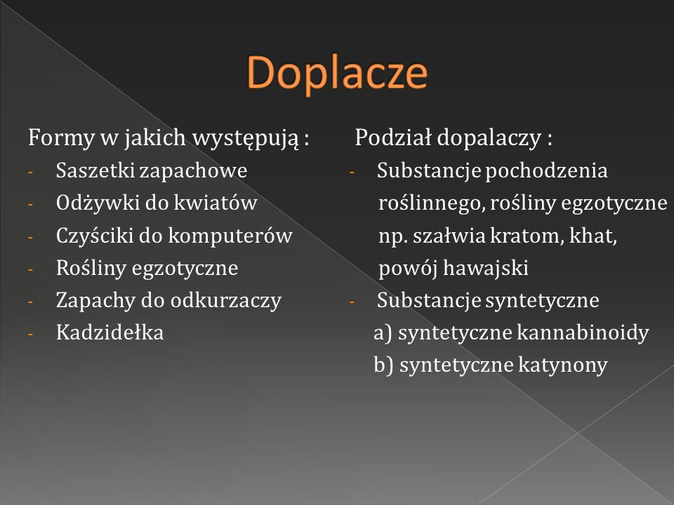 Substancje zawarte w dopalaczach są substancjami nowymi, więc dokładne ich działanie oraz konsekwencje ich zażywania nie zostały jeszcze zbadane, Każda substancja psychoaktywna może działać różnie na poszczególne osoby, Ekspertyzy chemiczne pokazały, że większość dopalaczy występujących na rynku w Polsce zawiera więcej niż jedną substancję psychoaktywną.
