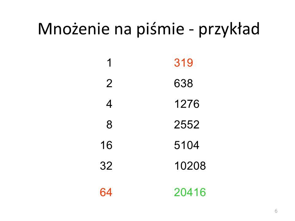 Przykład: arkusz kalkulacyjny 37 Badania Analiza ciągów za pomocą różnic kolejnych wyrazów