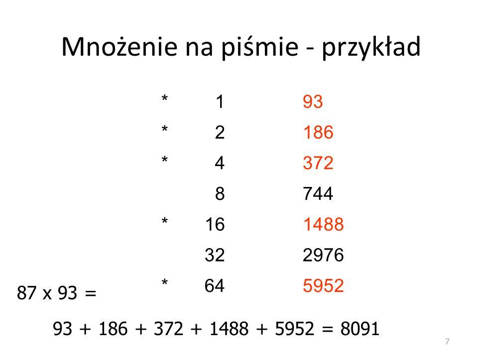 Obliczenia za pomocą urządzeń 18 Suwak logarytmiczny