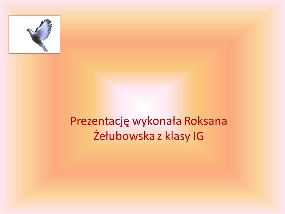 Prezentację wykonała Roksana Żełubowska z klasy IG
