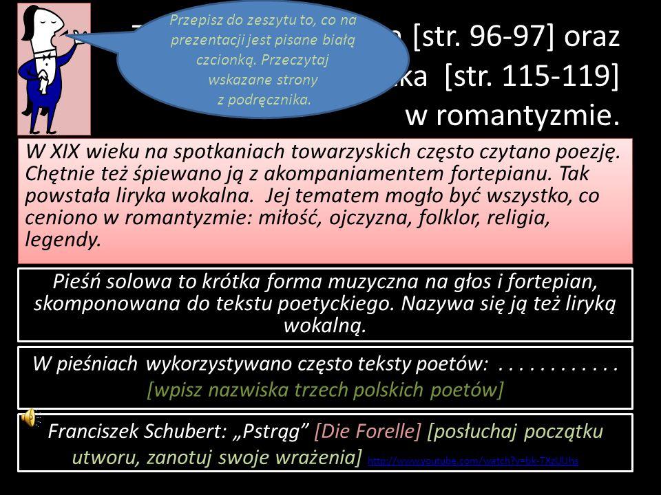 Temat: Pieśń solowa [str.96-97] oraz opera i operetka [str.