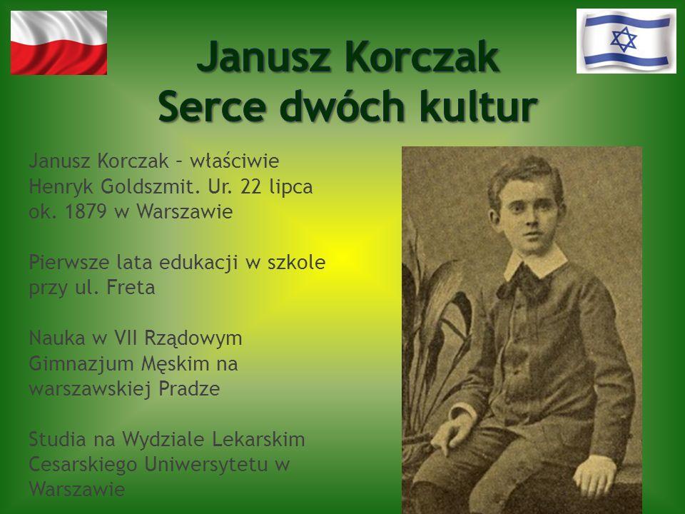 Janusz Korczak – właściwie Henryk Goldszmit. Ur. 22 lipca ok. 1879 w Warszawie Pierwsze lata edukacji w szkole przy ul. Freta Nauka w VII Rządowym Gim