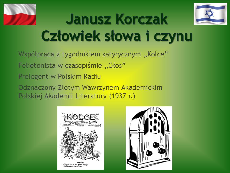 Współpraca z tygodnikiem satyrycznym Kolce Felietonista w czasopiśmie Głos Prelegent w Polskim Radiu Odznaczony Złotym Wawrzynem Akademickim Polskiej