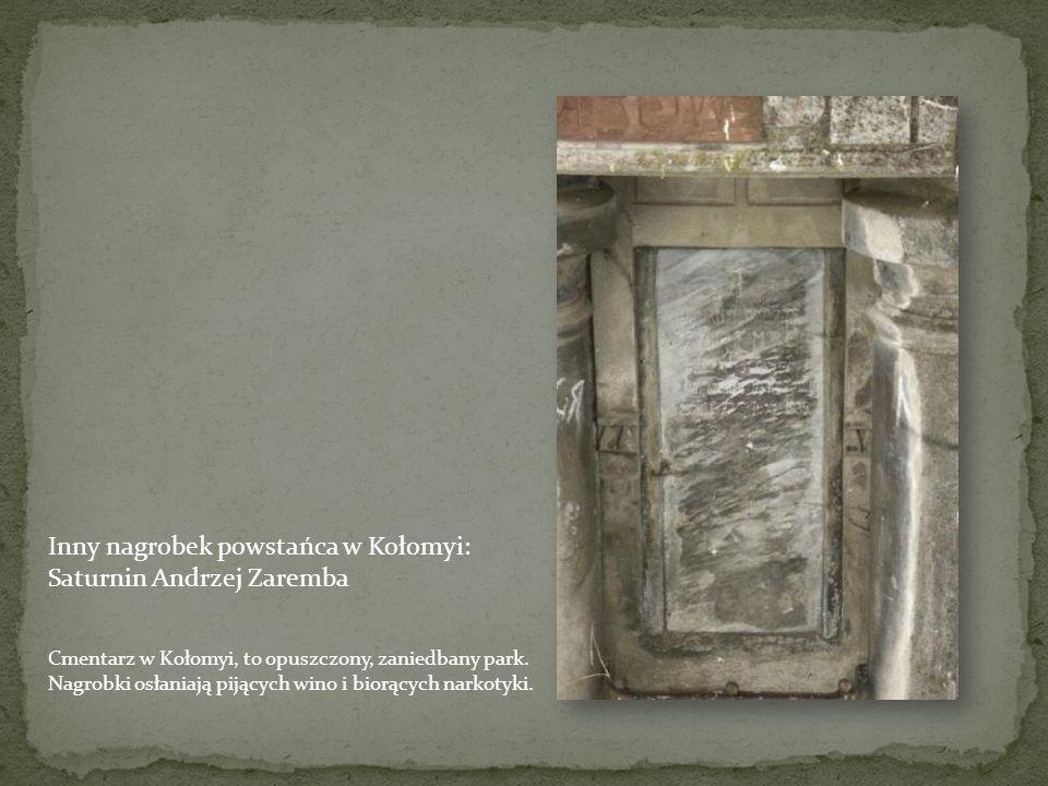 Nagrobek powstańca Jana Szymeczko w Kołomyi – cm. rz.-kat
