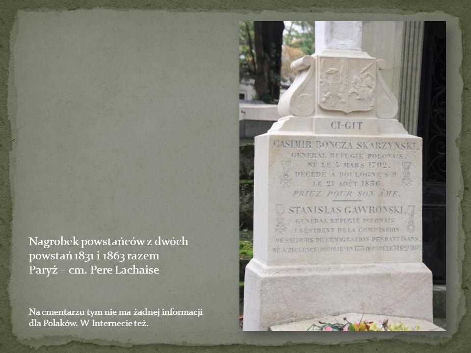 Nagrobek Pustowójtówny Paryż – cm. Mont-Martre Cmentarz z wieloma nieznanymi grobami polskich powstańców z 1831 i 1863 Henryka Pustowojtów była asyste