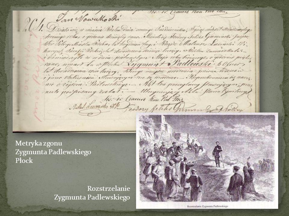 Władysław Rawicz 9.12.1863 – wpis do księgi zgonów Naczelnik Cywilny Województwa Podlaskiego, wydany przez Maksymiliana Oborskiego, dziedzica Przerowy