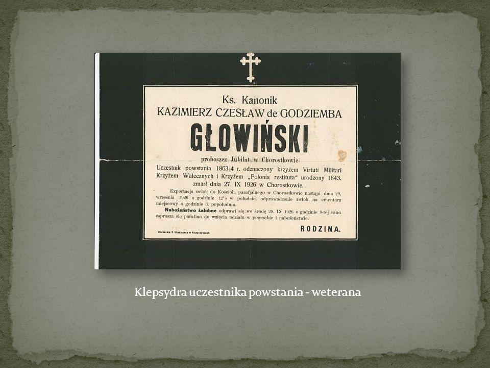 Wykazy powstańców styczniowych z poszczególnych gmin rejonu wyszogrodzkiego z lat 1865-1866