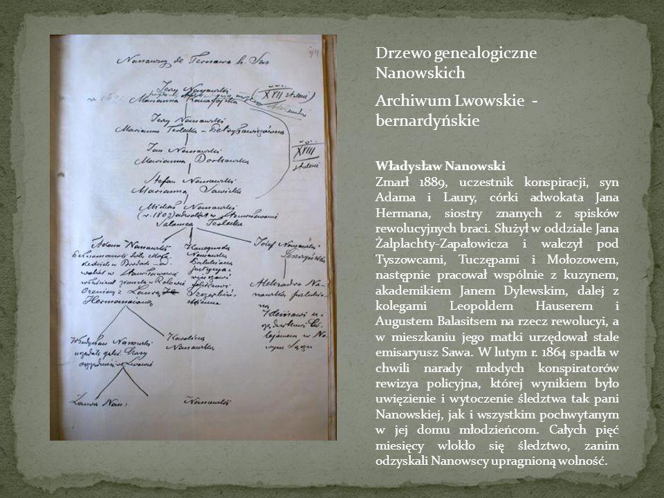 Drzewo rodziny Hermann Jan Hermann ur. w Brzeźnicy, słuchacz techn, pracował w organizacji jako dziesiętnik, następnie służył w oddz. Miniewskiego i M