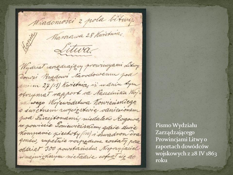 Okólnik o nowym regulaminie dla Galicji z 30 XI-1 XII 1863 roku