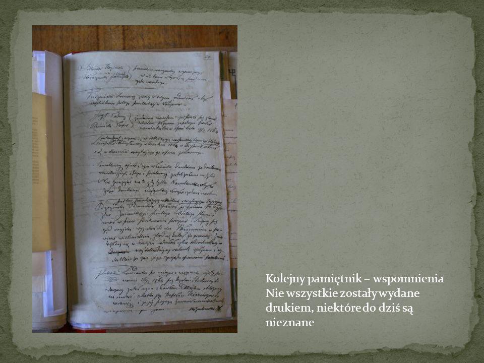Rękopis spisanej historii powstańczej Historie te były spisywane i nadsyłane w celu zachowania pamięci. Arch. Lwowskie - bernardyńskie